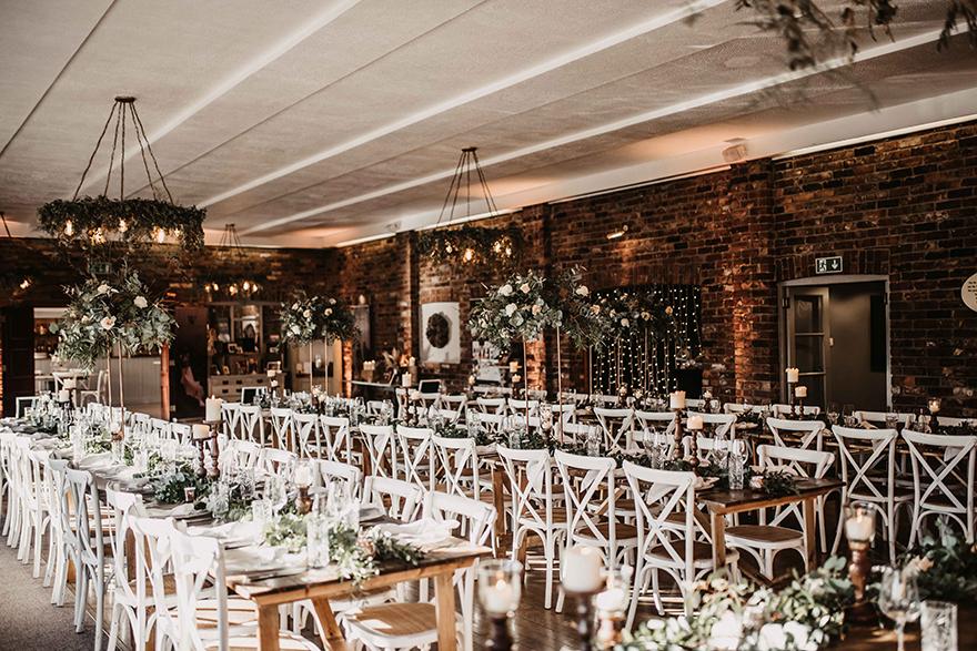 Beautiful wedding dining area