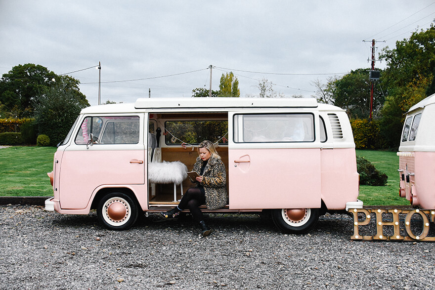 A wedding campervan