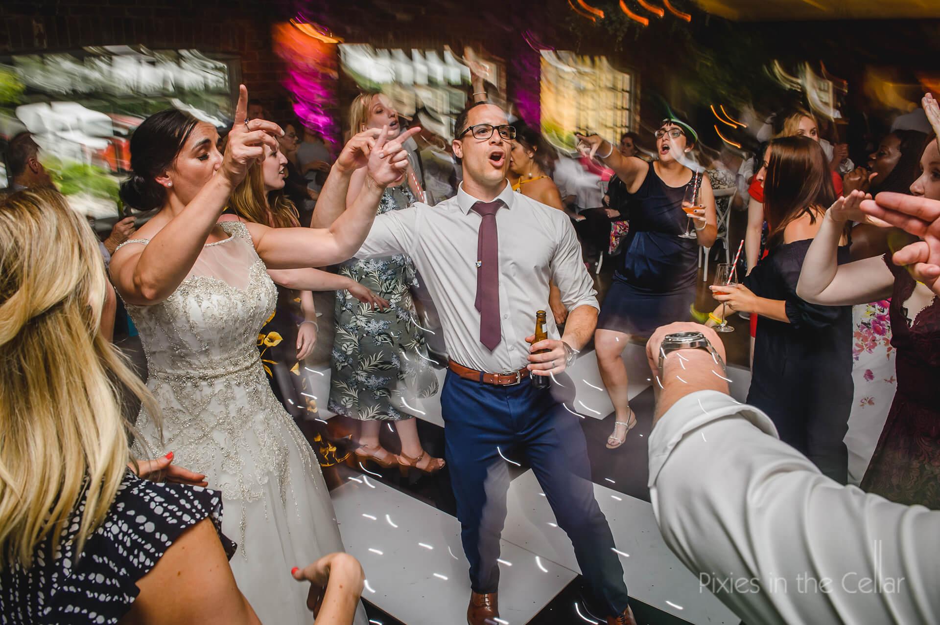 Guests partying on the dancefloor